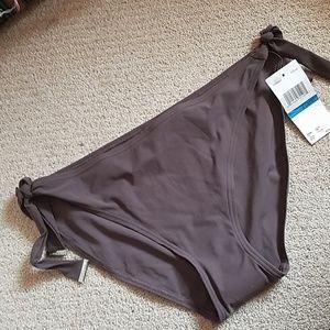 NWT Fudge brown side tie w silver tips bikini XL